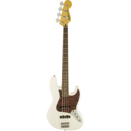 SQUIER JAZZ BASS  VINTAGE MODIFIED BLANC