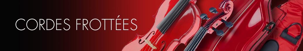 Cordes violons, altos, violoncelles, contrebasses
